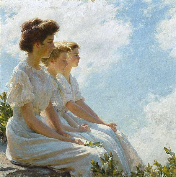 Charles Courtney Curran On the Heights oil painting image