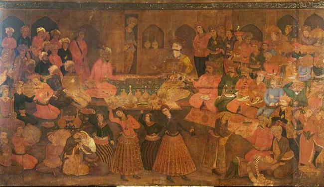 Anonymous Shah Tahmasp Entertains Abdul Muhammed Khan of the Uzbeks oil painting image
