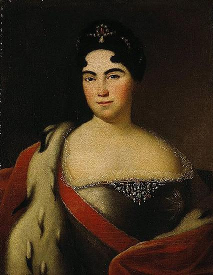 Anonymous Portrait of Catherine I Portraiture oil painting image