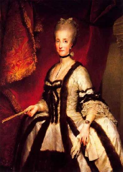 Anton Raphael Mengs Portrait of Maria Carolina of Austria Queen consort of Naples and Sicily Sweden oil painting art