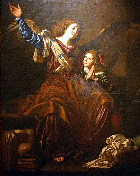 CAVAROZZI, Bartolomeo Guardian angel oil painting image