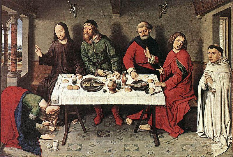 Dieric Bouts Christ in the House of Simon oil painting image
