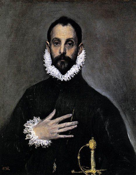 El Greco Nobleman with his Hand on his Chest oil painting picture