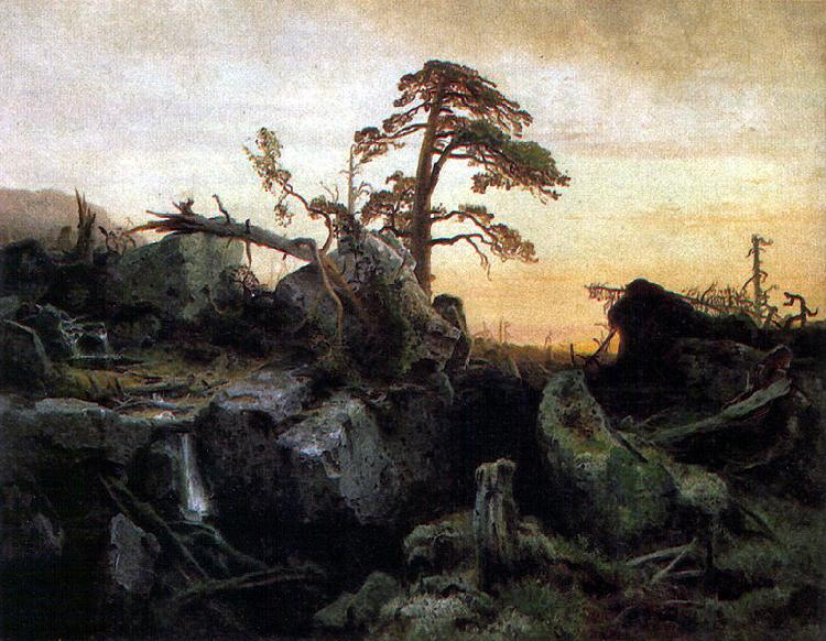 Hermann August Cappelen Sterbender Urwald, Nationalgalerie Oslo Sweden oil painting art