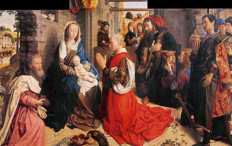 Hugo van der Goes Monforte Altarpiece oil painting image