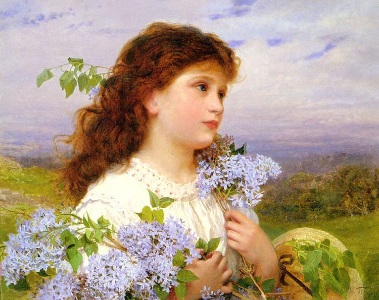 Sophie Gengembre Anderson The Time Of The Lilacs oil painting picture