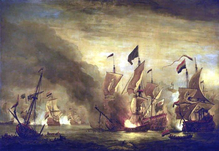 Willem Van de Velde The Younger Royal James  at the Battle of Solebay oil painting image