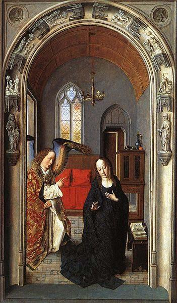 Dieric Bouts The Annunciation oil painting image