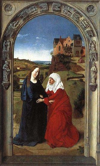 Dieric Bouts The Visitation oil painting image