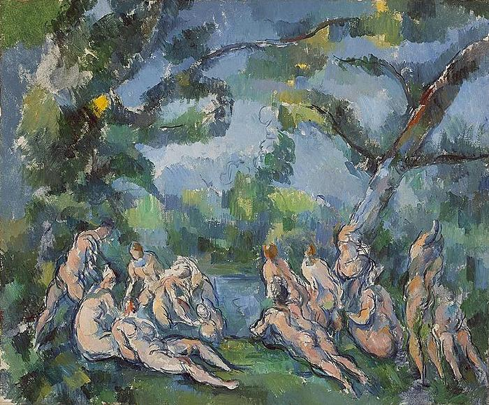Paul Cezanne Badende oil painting image