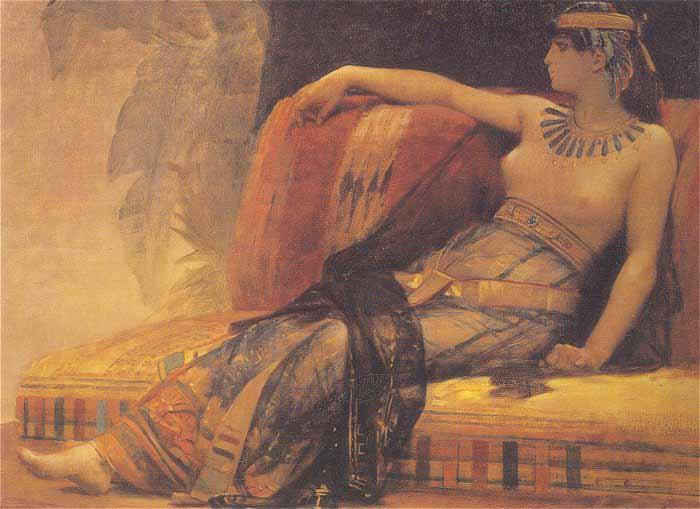 Alexandre Cabanel Cleopatra Testing Poisons on Condemned Prisoners oil painting image