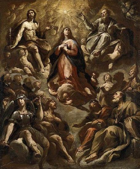Andrea Vaccaro Assumption of the Virgin oil painting image