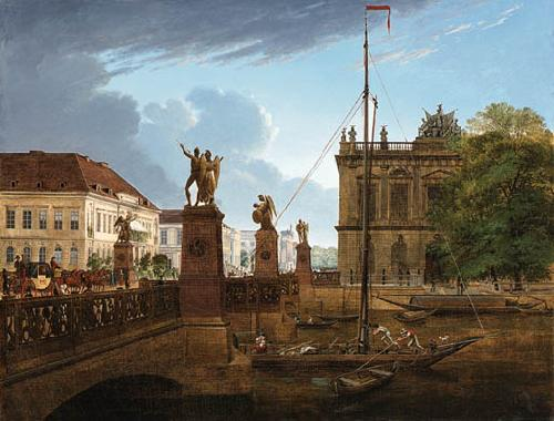 Friedrich Wilhelm Keyl View of Schlossbruke and Zeughaus oil painting image