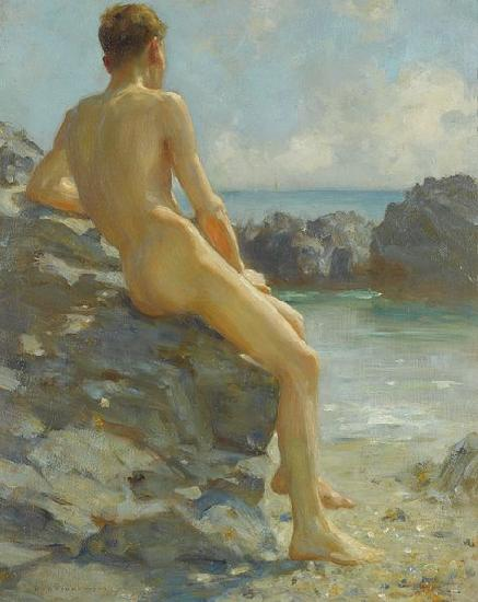 Henry Scott Tuke The Bather oil painting picture