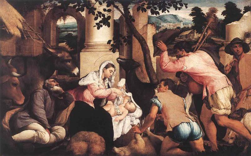 Jacopo Bassano The Adoration of the Shepherds oil painting picture
