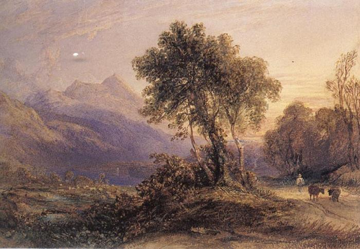 Anthony Vandyck Copley Fielding Ben Lomond oil painting picture