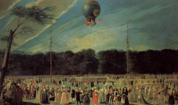 Antonio Carnicero The  Ascent of a Montgolfier Balloon oil painting image