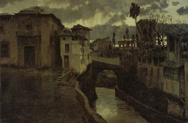 Antonio Munoz Degrain A Shower in Granada oil painting image
