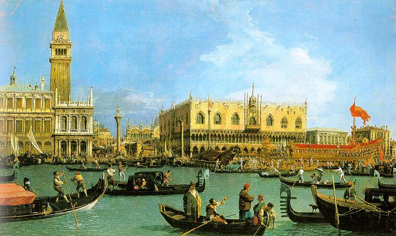 Canaletto The Basin of San Marco on Ascension Day oil painting image