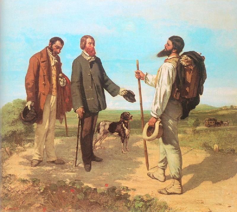 Courbet, Gustave The Meeting (Bonjour, Monsieur Courbet) oil painting image