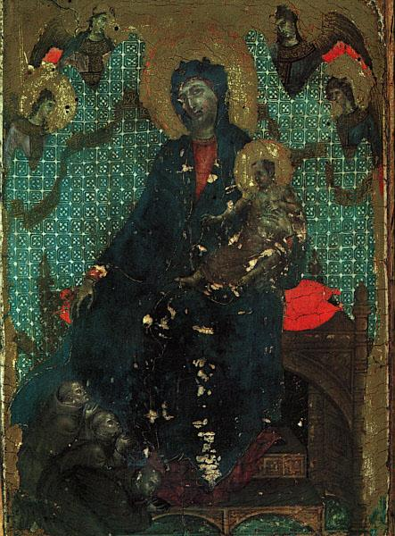 Duccio di Buoninsegna The Madonna of the Franciscans oil painting image