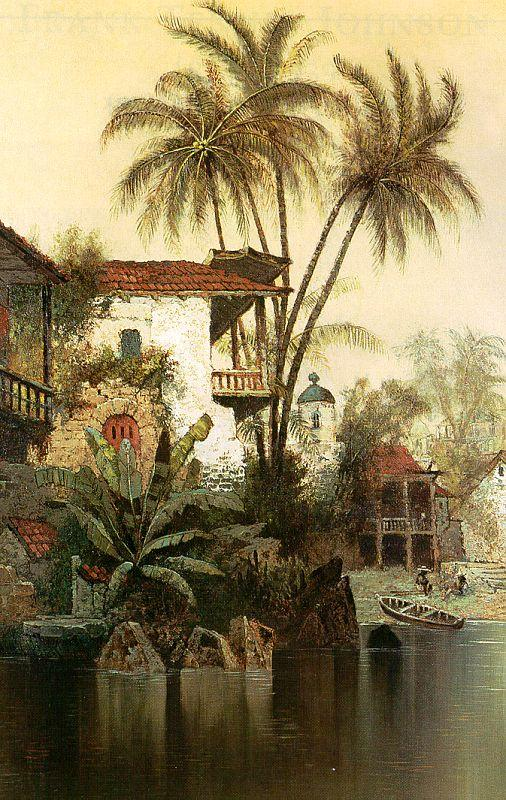Edwin Deakin Old Panama Sweden oil painting art