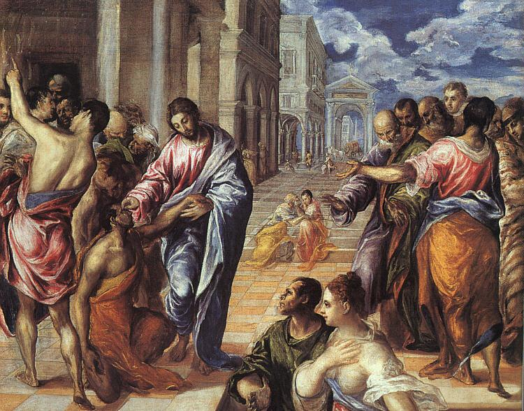 El Greco The Miracle of Christ Healing the Blind oil painting image