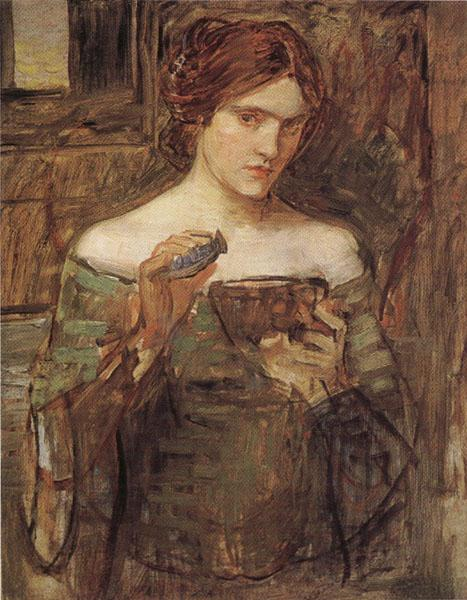 John William Waterhouse Sketch fro The Love Philtre oil painting image