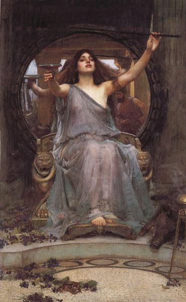John William Waterhouse Circe Offering the  Cup to Odysseus oil painting image