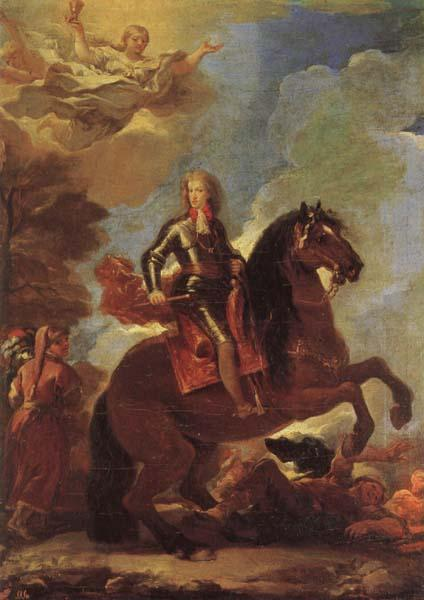 Luca Giordano Equestrian Portrait of Charles II oil painting picture