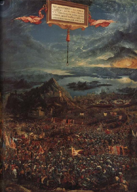 Albrecht Altdorfer The Battle of Issus oil painting picture
