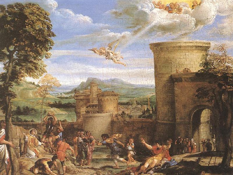 Annibale Carracci The Martyrdom of St Stephen oil painting image