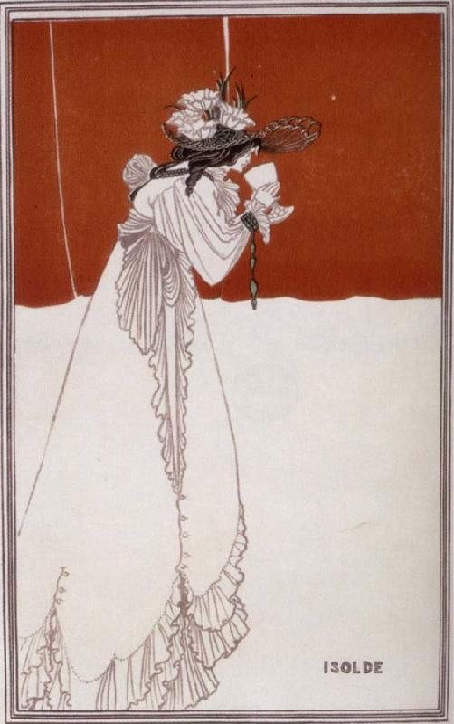 Aubrey Beardsley Isolde oil painting image