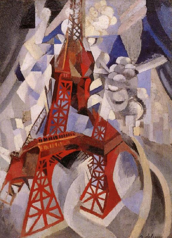 Delaunay, Robert Eiffel Tower or the Red Tower oil painting image