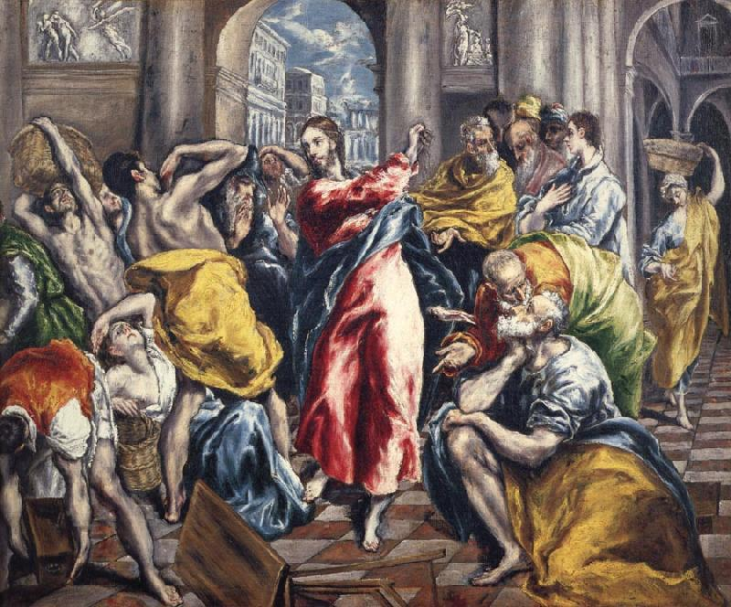 El Greco The Purification of the temple oil painting picture