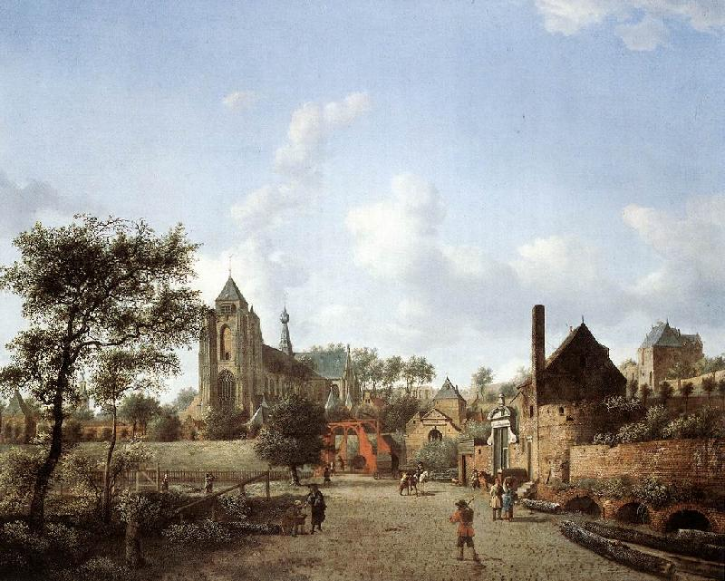 HEYDEN, Jan van der proach to the Town of Veere oil painting image