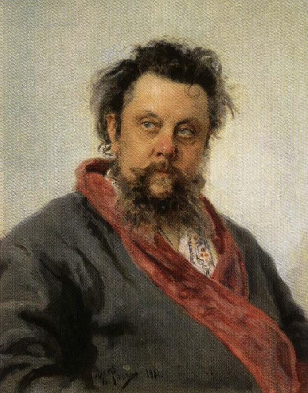 Ilya Repin Portrait of Modest Mussorgsky oil painting picture