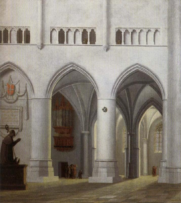 Pieter Jansz Saenredam Interior of the Church of Saint Bavo in Haarlem oil painting image