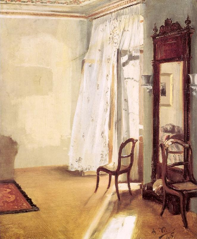 Adolph von Menzel The French Window oil painting image
