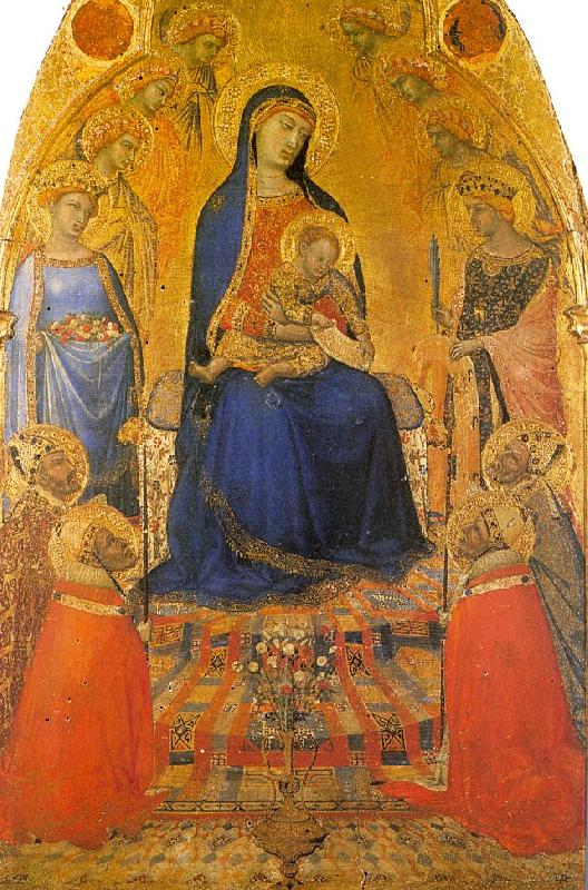 Ambrogio Lorenzetti Madonna and Child Enthroned with Angels and Saints oil painting image