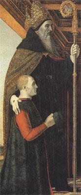 Bergognone Augustiue with a Kneeling Donor (mk05) oil painting image