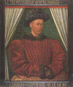 Jean Fouquet Charles VII King of France (mk05) oil painting image
