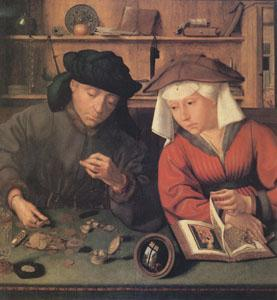 Quentin Massys The Moneylender and His Wife (mk05) oil painting picture