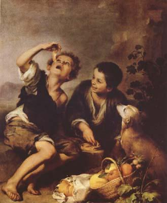 Bartolome Esteban Murillo The Pie Eater (mk08) oil painting image