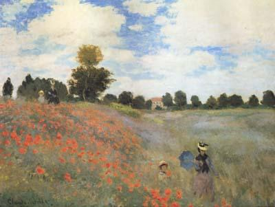 Claude Monet Poppies near Argenteuil (mk06) oil painting image