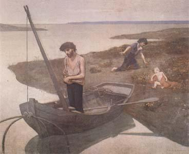 Pierre Puvis de Chavannes The Poor Fisherman (mk09) oil painting image