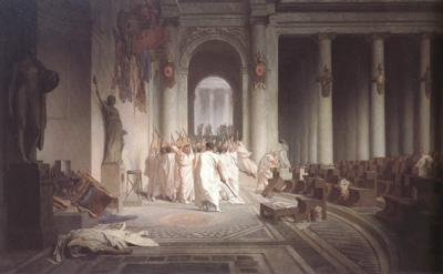 Alma-Tadema, Sir Lawrence Jean-Leon Gerome,The Death of Caesar (mk23) oil painting image