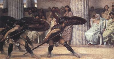 Alma-Tadema, Sir Lawrence A Pyrrhic Dance (mk23) oil painting image