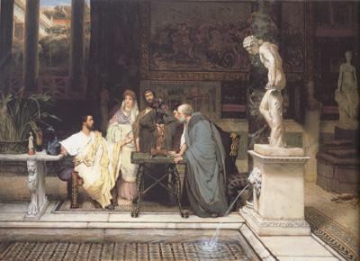 Alma-Tadema, Sir Lawrence A Roman Art Lover (mk23) oil painting image