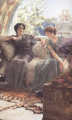 Alma-Tadema, Sir Lawrence Unwelcome Confidence (mk23) oil painting image
